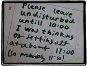 22nd Feb 2015 - Message on the door