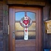 Door with hearts.