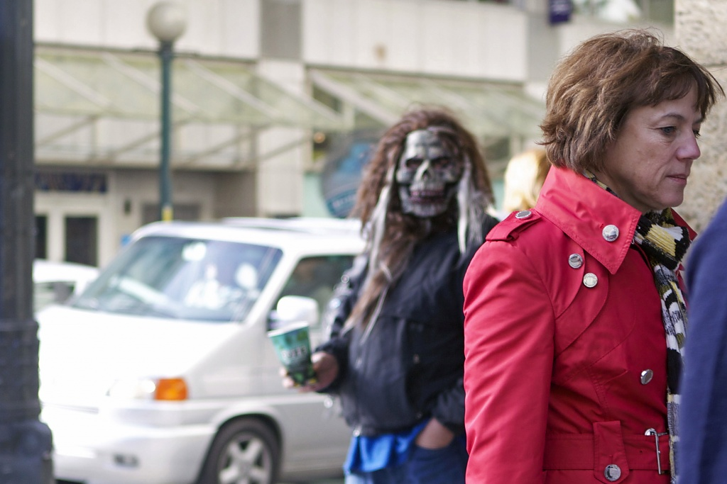 Street Monster...Spare Change? by seattle