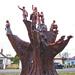 Legerwood tree carvings
