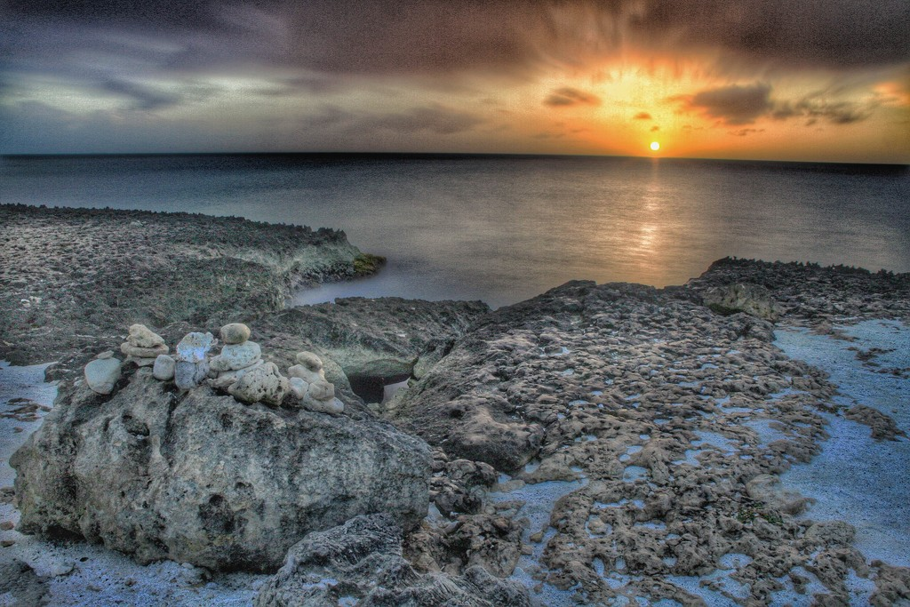 Rocky Carribean Sunset by sbolden