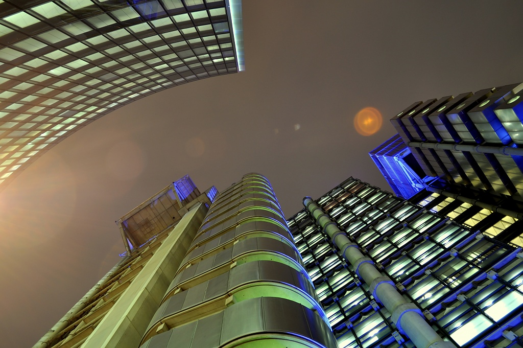 Lloyds at Night by andycoleborn