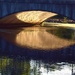 Late afternoon reflections under the bridge at the Duck pond. by happysnaps
