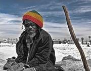 31st Mar 2015 - Rastafarian and Walking Stick