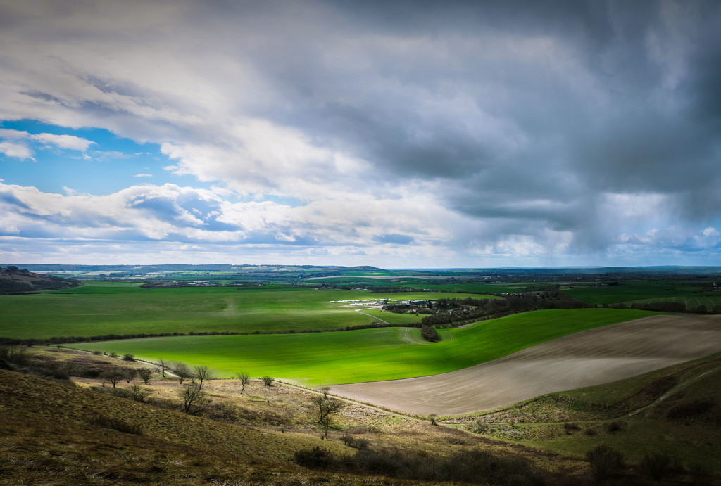 Day 090, Year 3 - Storm Approaches At The Downs by stevecameras