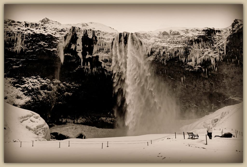 Seljalandsfoss waterfall, Iceland. by darrenboyj