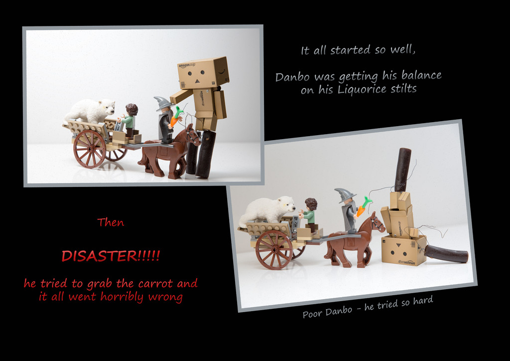 2015 04 08 - Danbo and his Liquorice Stilts by pixiemac