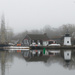 Fog and drizzle on the Mystic River by mccarth1