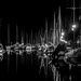 La Roche Bernard - Inner Harbour at Night by vignouse