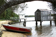 17th Apr 2015 - A relic & Bathing house, on the Moroochy River.  Queensland