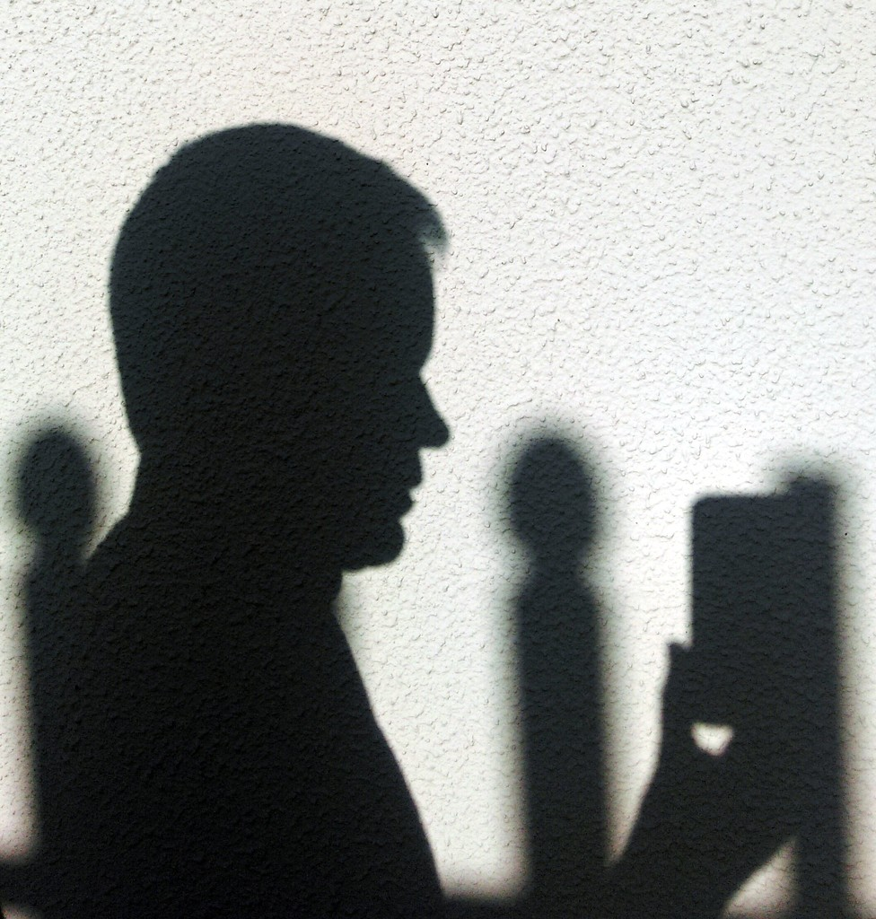 Hitchcockian Profile Shadow Selfie... by jack4john