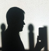 17th Apr 2015 - Hitchcockian Profile Shadow Selfie...