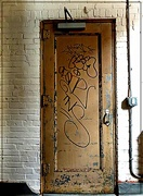 25th Apr 2015 - Brown Door with Grafitti