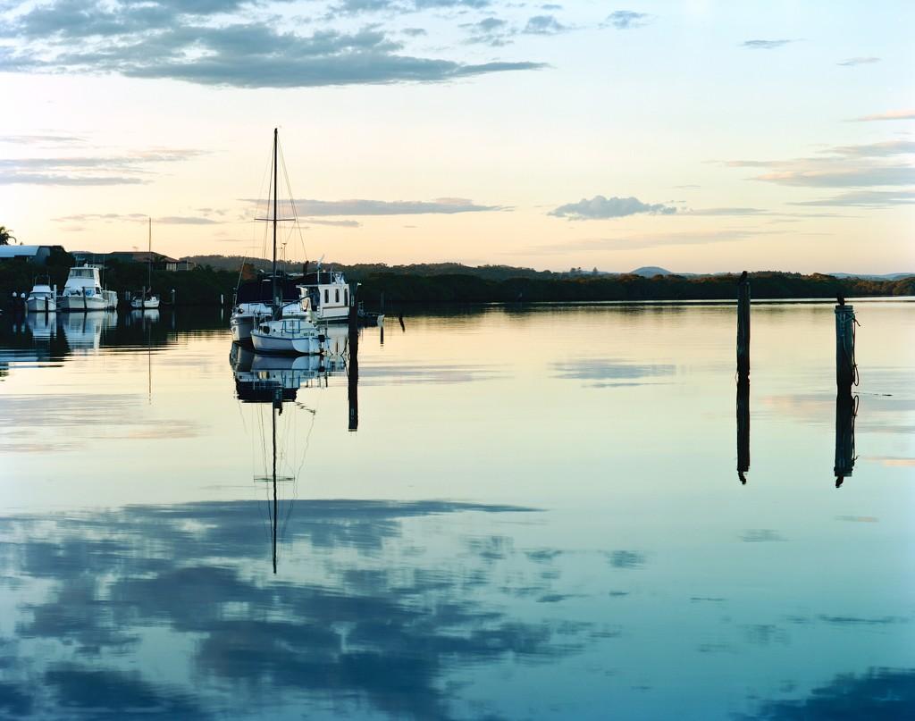 Moorings near Witts Island by peterdegraaff