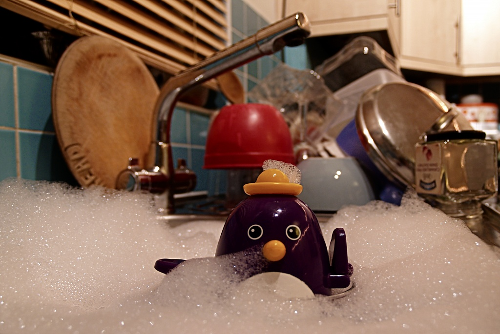 Mr Penguin Does The Washing Up by rich57