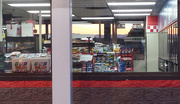 13th May 2015 - Sunset through the gas station window