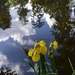 Iris and cloud reflection, Magnolia Gardens, Charleston, SC by congaree