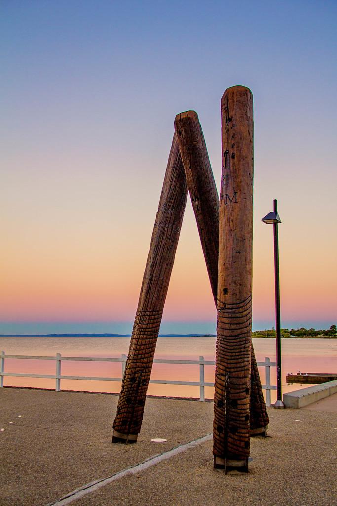 Quandamooka poles by corymbia