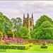 Canon's Ashby Garden And St.Mary's Church
