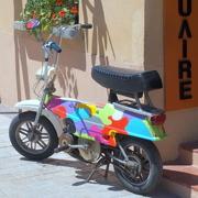 6th Jun 2015 - Amazing Technicolor Motorcycle