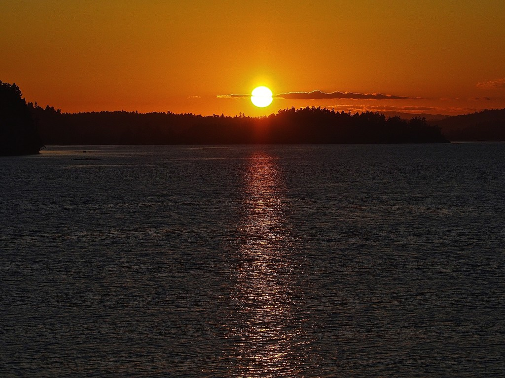 Sunset on Puget Sound by redy4et