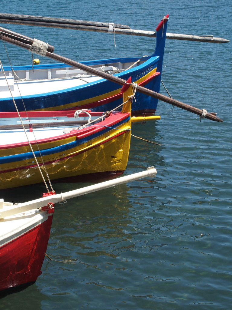 Fishing boats at Collioure by laroque