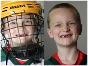 11th Jun 2015 - Now he looks like a hockey player!!!