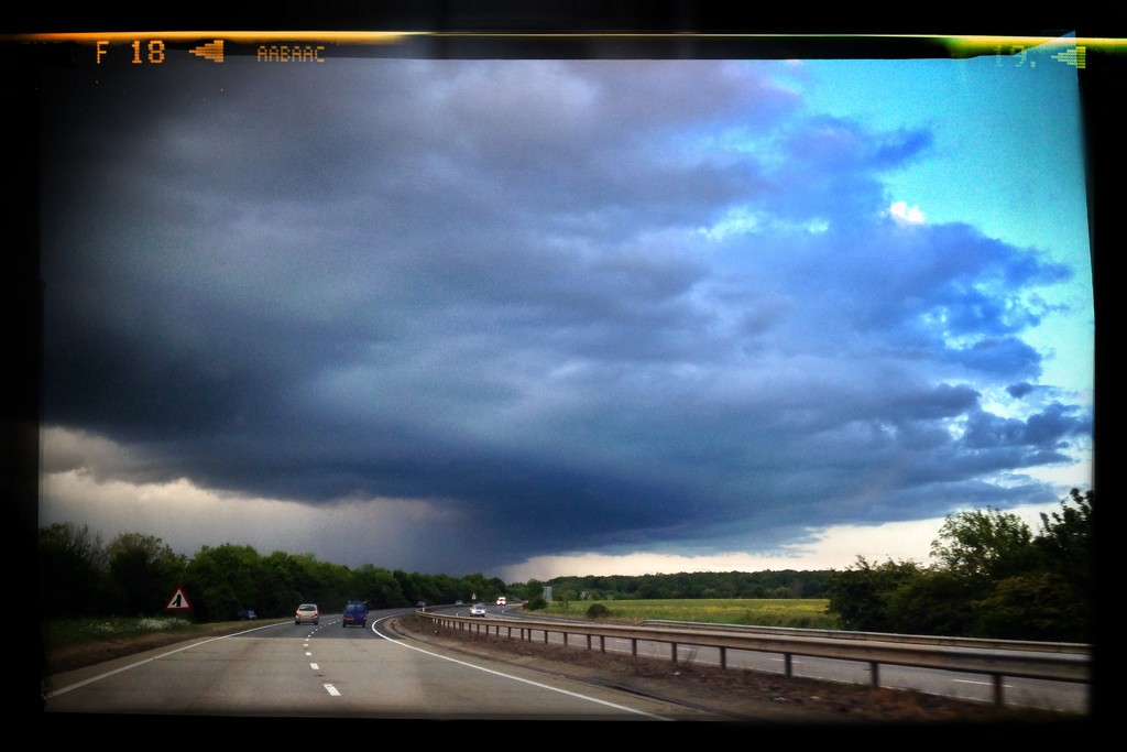Day 151, Year 3 - Storm Brewing Over the A11 by stevecameras