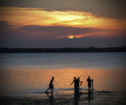 16th Jun 2015 - Boys fishing at sunset