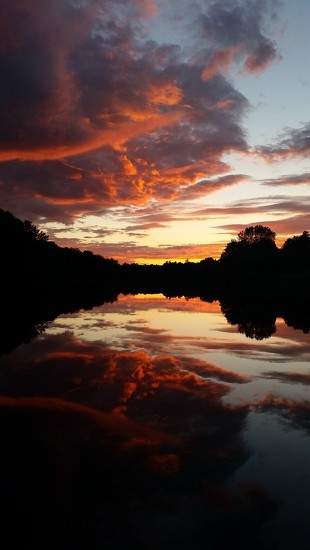 Piscataquis River Sunset by mandyj92