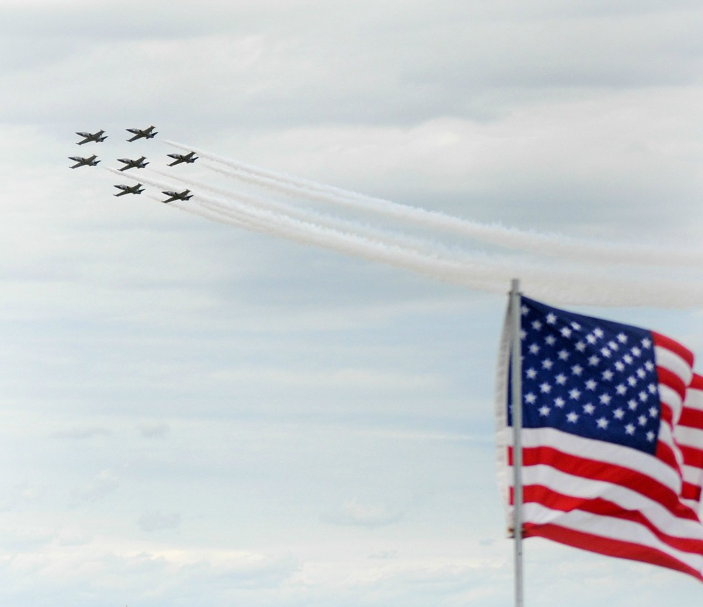 Flag, Formation and the Fourth of July by alophoto