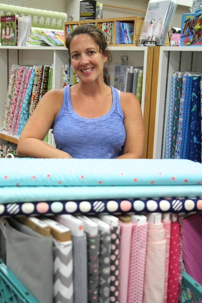 Choosing fabric for her baby girl's quilt! by whiteswan