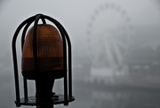 14th Jul 2015 - 2: the light on the bridge and the wheel in the fog