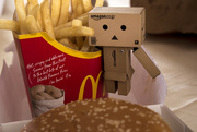 16th Jul 2015 - Danbo jumping in for some fries
