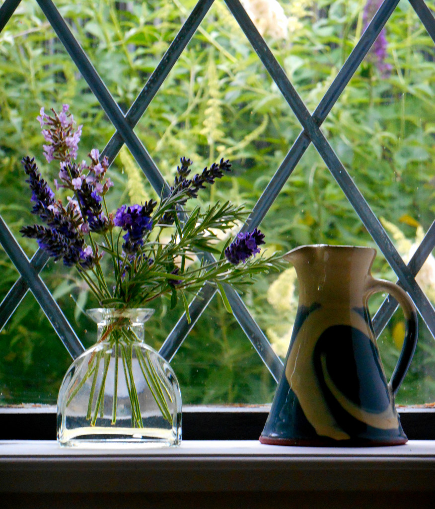 Lavender... on the window ledge  by snowy