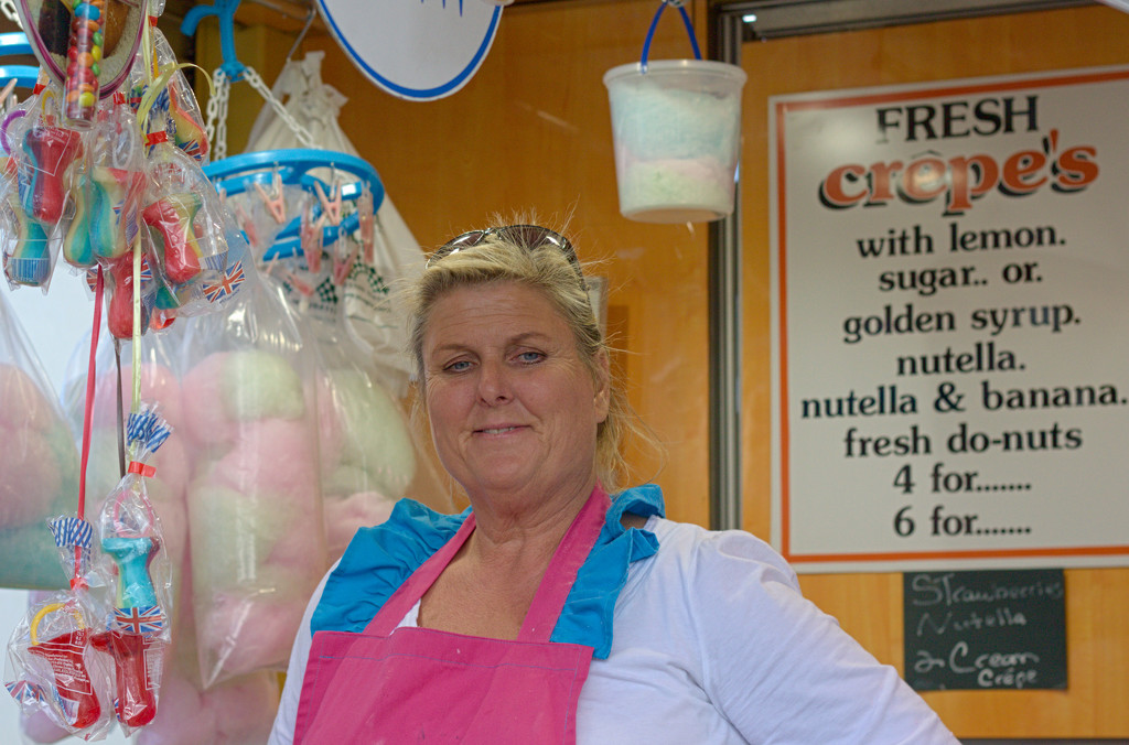 Fair Ground sugary treat lady by phil_howcroft