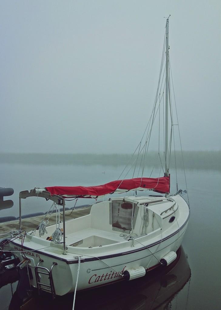 Misty morning sailboat  by soboy5