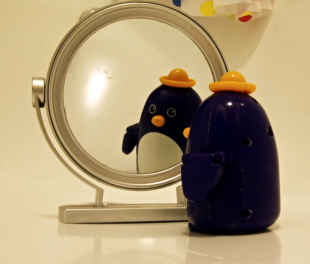 Mr Penguin Through The Looking-Glass by rich57