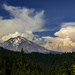 Smokey Clouds Around Mt Shasta by jgpittenger
