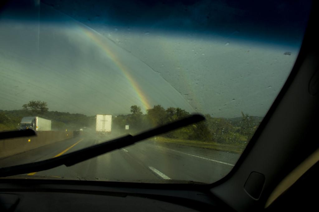 Rainbow in the Rain by hjbenson
