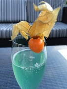 25th Aug 2015 - Blue Champagne Cocktail