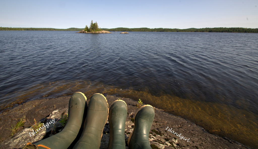 These boots are made for W...............oops canoeing!  by radiogirl