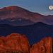 Moonset Over Pikes Peak