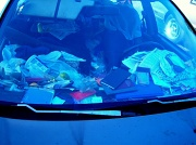 18th Nov 2010 - Mess seen trough the windschield.