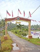 12th Sep 2015 - Merdeka flags on Kampung gateway