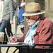 Man in straw Hat  by wendyfrost