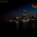 blood moon over the city  by myhrhelper