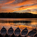 canoes at sunset by jackies365