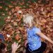 Playing in the leaves by kiwichick