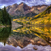 Sunrise Reflections at Maroon Bells by exposure4u